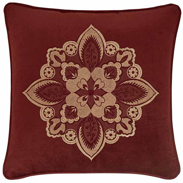 Queen Street Reese 18x18 Embellished Square Throw Pillow
