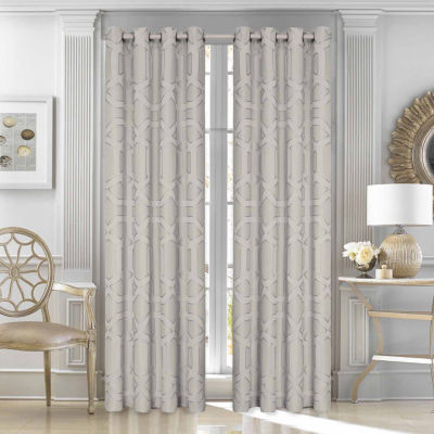 Five Queens Court Kennedy Grommet-Top Set of 2 Curtain Panel