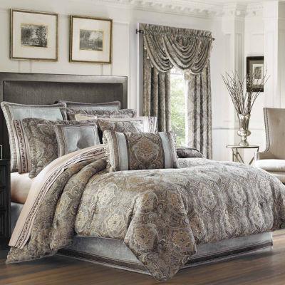 Queen Street Paulina 4-pc. Damask + Scroll Heavyweight Comforter Set