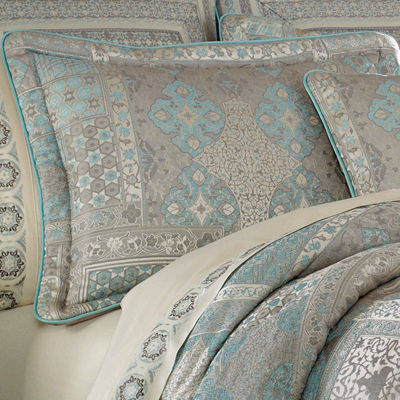 Five Queens Court Abigail 4-pc. Damask + Scroll Midweight Comforter Set