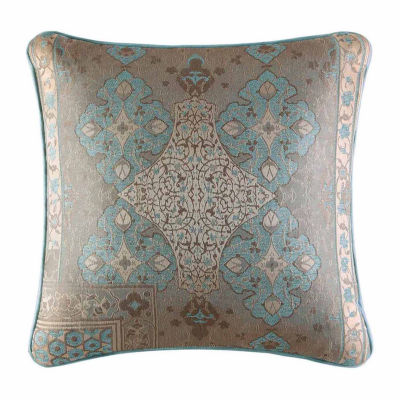 Five Queens Court Abigail Square Throw Pillow