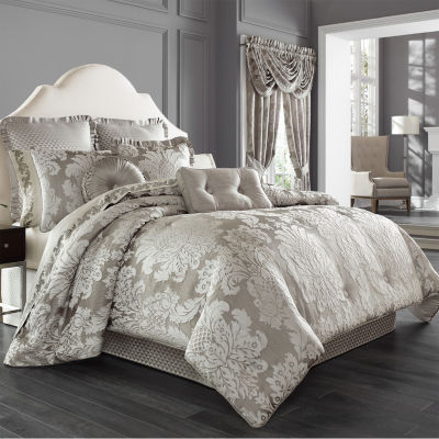 Five Queens Court Carly 4-pc. Damask + Scroll Heavyweight Comforter Set