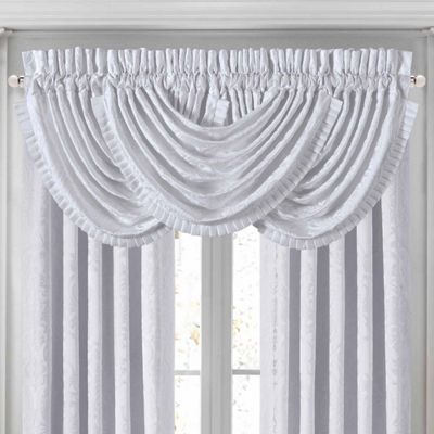 Queen Street Courtney Rod-Pocket Waterfall Valance