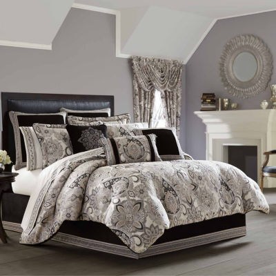Queen Street Giselle 4-pc. Damask + Scroll Heavyweight Comforter Set