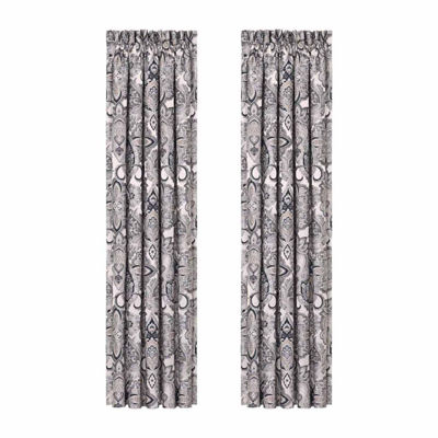 Queen Street Giselle 2 Pair Rod-Pocket Curtain Panels