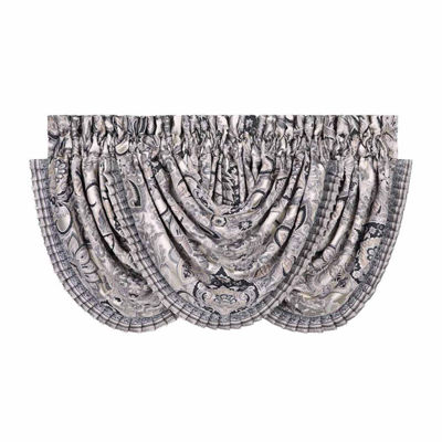 Queen Street Giselle Rod-Pocket Waterfall Valance