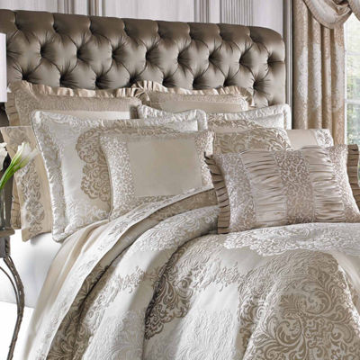 Queen Street Lambert 4-pc. Damask + Scroll Heavyweight Comforter Set