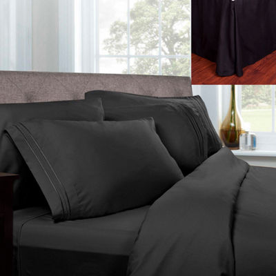 1500 Series Microfiber Sheets & Pleated Bed Skirt Set