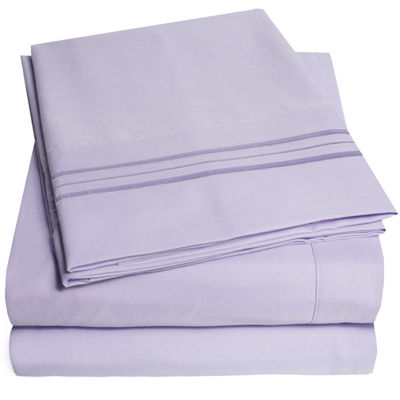 1800 Thread Count 4 Piece Sheet Set Premium Microfiber Deep Pocket Bed Sheets