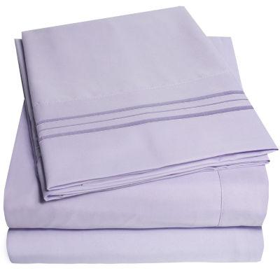 1800 Thread Count 4 Piece Sheet Set Premium Microfiber Deep Pocket Bed  Sheets