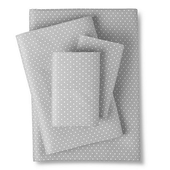 1800 Count Pin Dot Print Microfiber Sheet Set