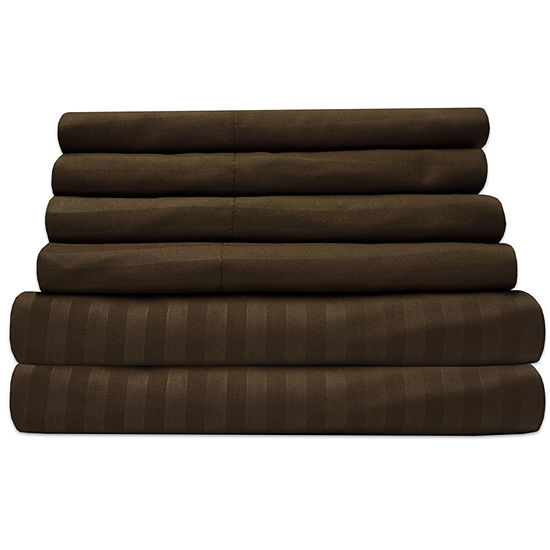 Sweet Home Collection 1500tc Deep Pocket Dobby Sheet Set with Bonus Pillowcases
