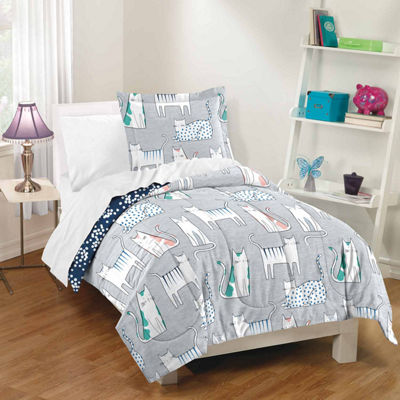 Dream Factory Purrfect Cats Comforter And Sham Set