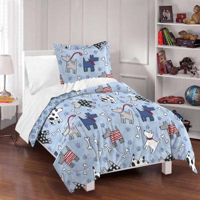 Dream Factory Dog Dreams Comforter And Sham Set