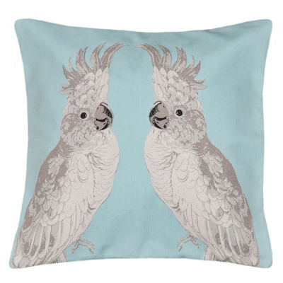 Cockatoo Square Throw Pillow
