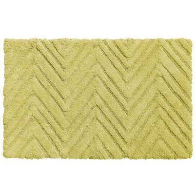 "100% Cotton Bath Bathroom Rug Mat Chevron Pattern21""x34"""