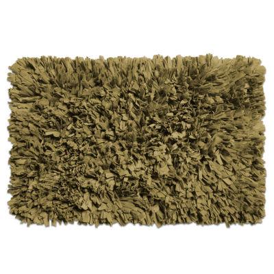 "Cotton Blend Bath Bathroom Rug Mat Paper Shag Design 21""x34"""