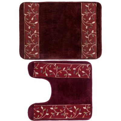 Popular Bath Aubury Burgundy Bath Rug Collection