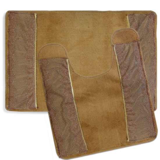 "Popular Bath Chateau Bathroom Contour Rug 21""x22""Bronze"""