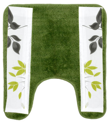 Popular Bath Mayan Leaf Sage Bath Rug Collection