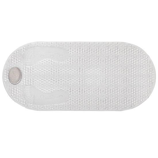 "Pumice Stone Exfoliating Bathroom Tub Shower BathMat 16""x32"" Suction Backed"""