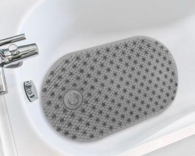"Vinyl 16"" x 28"" Non Slip Suction Cup Bubble Bath Tub Mat with Built in Hair Catcher"""
