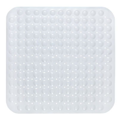 "Vinyl Shower Stall Bath Tub Mat Suction Cup Non Skid Back 21"" x 21"" Square"