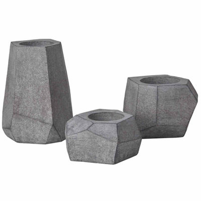 INK + IVY Geo Grey Planter Set