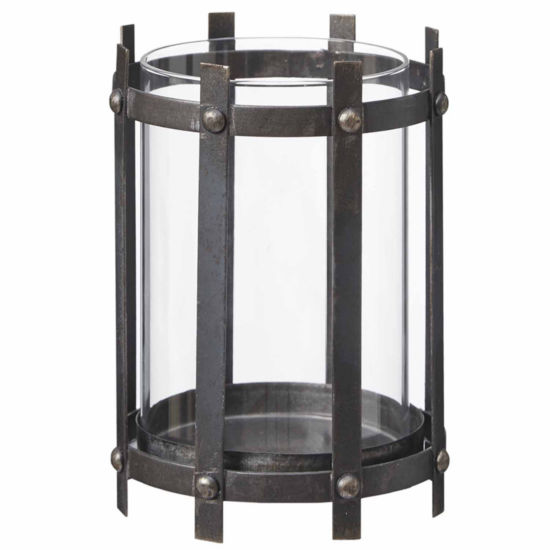 Madison Park Zoey Black Metal Frame Candleholder