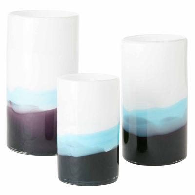 Madison Park Atlantis Handmade Glass Vase Set