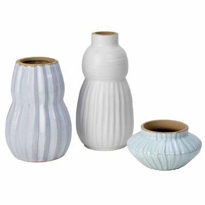 Madison Park Malia Handmade Terracotta Set of 3 Vases