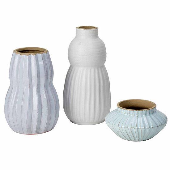 Madison Park Malia Handmade Terracotta Set of 3 Vases