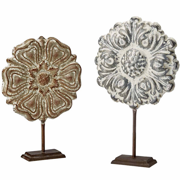 Madison Park Bryson Painted Iron Sculpture Set Of2