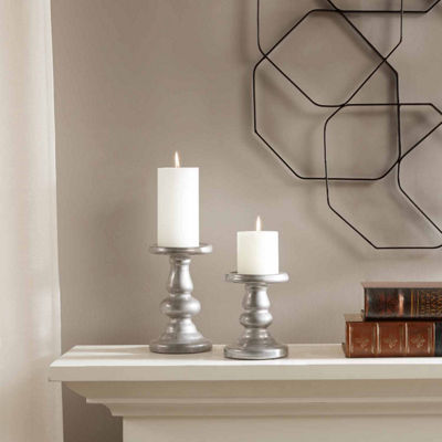 Madison Park Mila Ceramic Set of 2 Candleholders