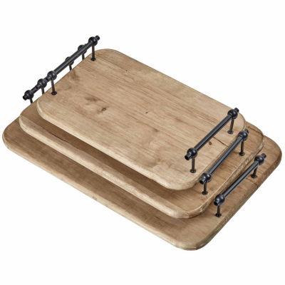 Madison Park Sienna Wood Trays Set Of 3