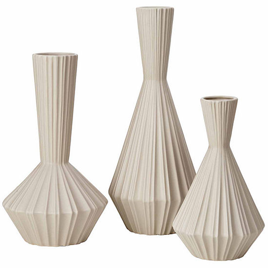 Madison Park Signature Lucia Handmade Stone Set Of3 Vases
