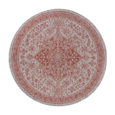 Veranda Vaux Round Traditional Area Rug