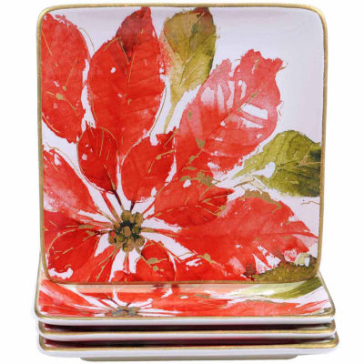 Certified International Home For The Holidays 4-pc. Dessert Plate