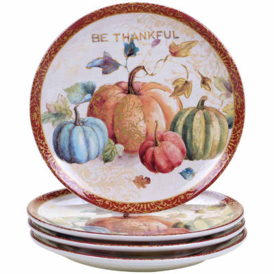 Certified International Winters Plaid 4-pc. Dinner Plate