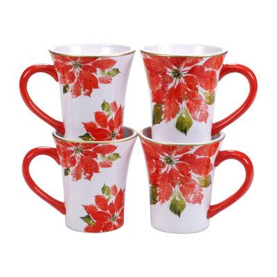 Certified International Christmas 4-pc. Coffee Mug