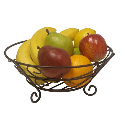 11 Classic Bronze Steel Wire Kitchen Counter Fruit Vegetable Basket