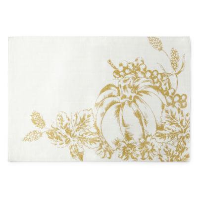 Harvest Gold Pumpkin 4pc Placemat