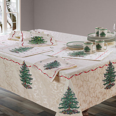 Avanti Spode Red Christmas Tree Tablecloth