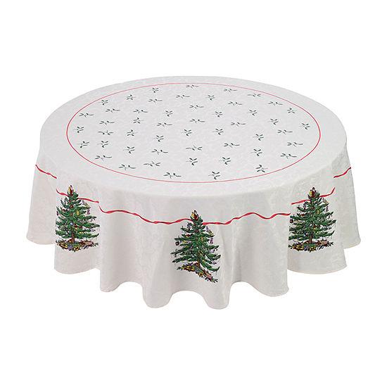 Avanti Spode Red Christmas Tree Tablecloth