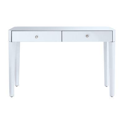 Reverse Painted Glass Desk