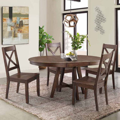 Dining Possibilities 5-Piece Round Table with X-Back Chairs