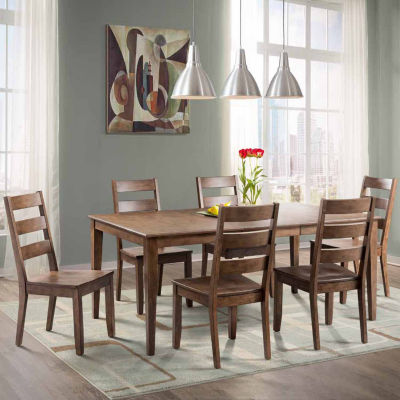Dining Possibilities 7-Piece Rectangular Table with Ladder Back Chairs