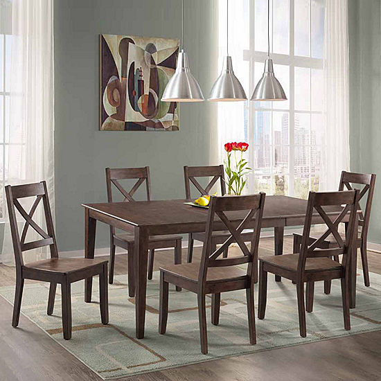 Jcpenney Dining Chairs: Dining Possibilities 7-Piece Rectangular Table With X-Back