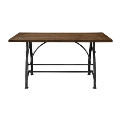 Rosebank Wood And Metal Dining Table