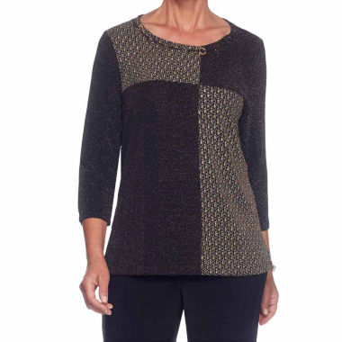 Alfred Dunner Deck The Halls Tunic Top